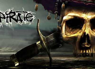 skulls, pirates, swords - related desktop wallpaper
