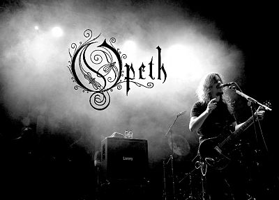 Opeth, monochrome - desktop wallpaper