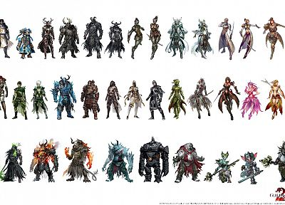 video games, fantasy art, armor, artwork, warriors, Guild Wars 2 - related desktop wallpaper