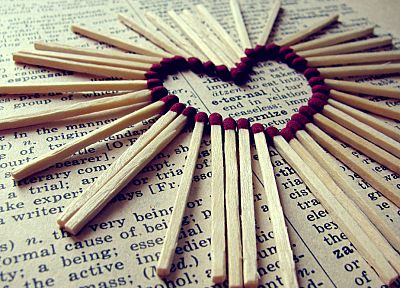 love, match, hearts, matchsticks - related desktop wallpaper