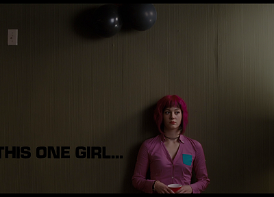 women, Mary Elizabeth Winstead, movies, pink hair, Ramona Flowers, Scott Pilgrim vs. the World - desktop wallpaper