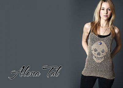 blondes, women, skulls, Alona Tal - random desktop wallpaper