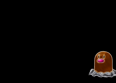 Pokemon, Diglett, simple background, black background - desktop wallpaper