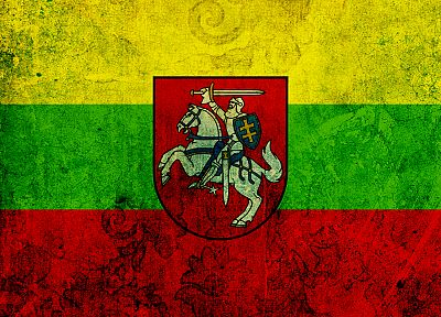 flags, Lithuania, Coat of arms - desktop wallpaper