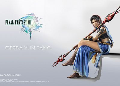 Final Fantasy, Final Fantasy XIII, simple background, Oerba Yun Fang - desktop wallpaper
