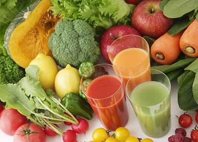 vegetables, glass, fruits, food, drinks - desktop wallpaper