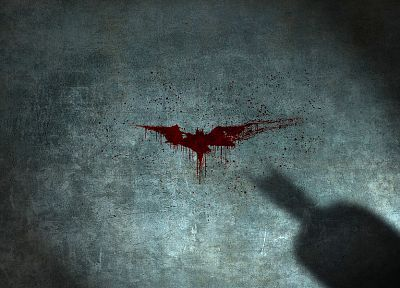Batman, DC Comics, blood, Batman Logo - desktop wallpaper