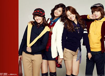 women, Girls Generation SNSD, celebrity, Im YoonA, Kim Hyoyeon, Choi Sooyoung, Tiffany Hwang - desktop wallpaper