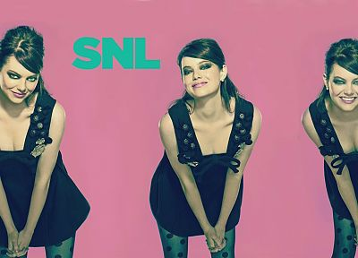 women, Emma Stone, Saturday Night Live - desktop wallpaper