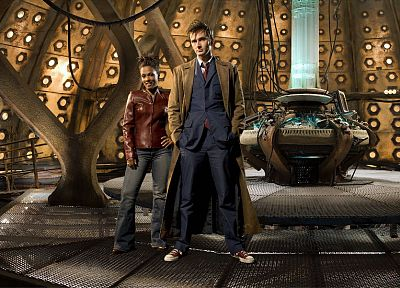 David Tennant, Doctor Who, Freema Agyeman, Martha Jones, Tenth Doctor, Tardis Control Room - related desktop wallpaper