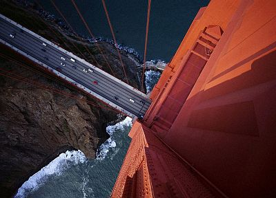 tower, Golden Gate Bridge - random desktop wallpaper