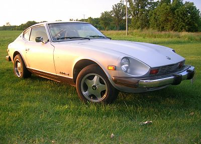 cars, grass, Datsun, Datsun 280Z, Nissan S30 - desktop wallpaper