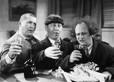 grayscale, monochrome, Three Stooges - random desktop wallpaper