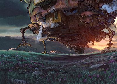 artwork, Studio Ghibli, anime, Howl's Moving Castle, hauru - random desktop wallpaper