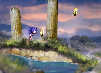 Sonic the Hedgehog, Sega Entertainment, artwork - duplicate desktop wallpaper