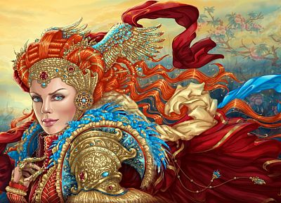 women, fantasy, artwork, 3D, Queens - related desktop wallpaper