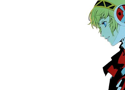 Persona series, Persona 3, simple background, Aigis - random desktop wallpaper