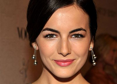 Camilla Belle, earrings - random desktop wallpaper