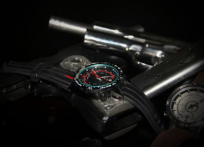 guns, watches - random desktop wallpaper