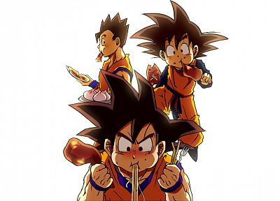 Son Goku, Goku, anime, Son Goten, Son Gohan, Dragon Ball Z, simple background - related desktop wallpaper