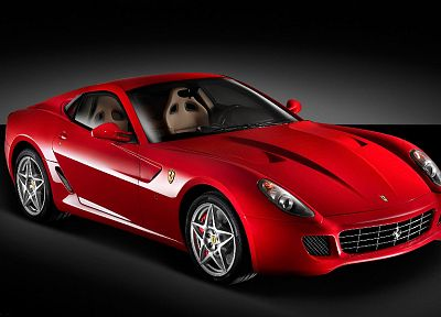 cars, Ferrari, vehicles, red cars, Ferrari 599, Ferrari 599 GTB Fiorano - random desktop wallpaper