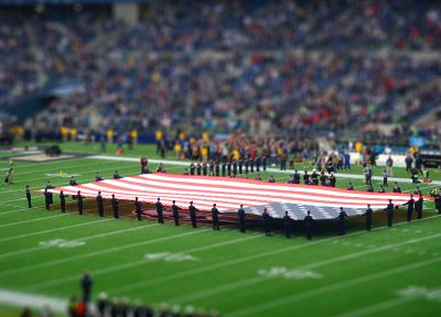 tilt-shift, American Flag - desktop wallpaper