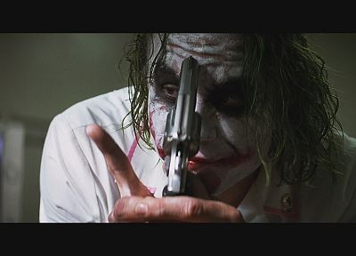 guns, movies, The Joker, Heath Ledger, The Dark Knight - related desktop wallpaper