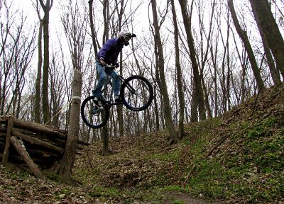 nature, forests, bicycles, drop, sports, Ukraine, extreme sports, freeride, mountain bikes - related desktop wallpaper
