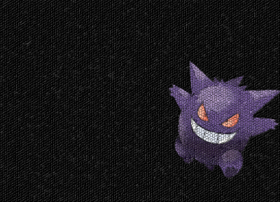 Pokemon, Gengar, mosaic - desktop wallpaper