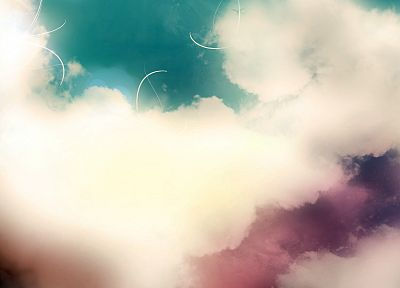 abstract, clouds - desktop wallpaper