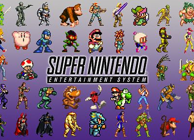 Nintendo, Kirby, Batman, Link, Wolverine, Mario, Yoshi, battletoads, Super Nintendo, retro games, toad (character) - related desktop wallpaper