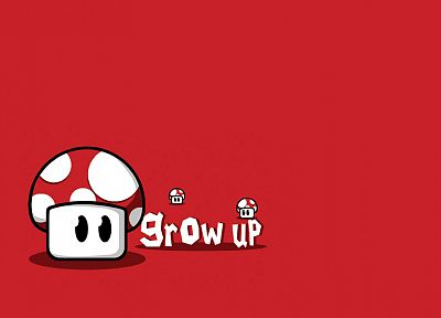 Nintendo, Mario, mushrooms, simple background - related desktop wallpaper