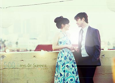 Zooey Deschanel, 500 Days Of Summer, Joseph Gordon-Levitt - random desktop wallpaper