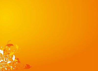 abstract, flowers, orange, floral - desktop wallpaper