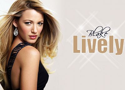 women, actress, Blake Lively - random desktop wallpaper