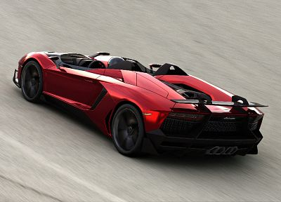 Red Cars Lamborghini Concept Art Vehicles Convertible