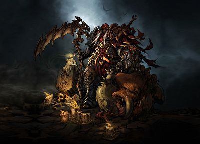 video games, scythe, Darksiders, artwork - random desktop wallpaper
