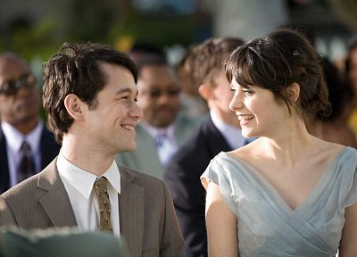 Zooey Deschanel, 500 Days Of Summer, Joseph Gordon-Levitt - desktop wallpaper