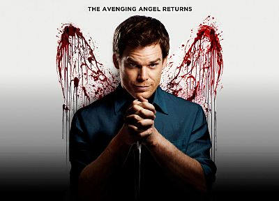 wings, Dexter, blood splatters, Michael C. Hall, Dexter Morgan - random desktop wallpaper