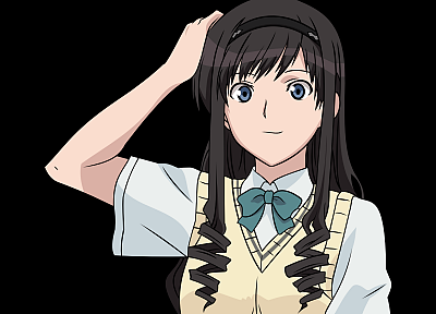 school uniforms, transparent, Amagami SS, Morishima Haruka, anime, anime vectors - related desktop wallpaper