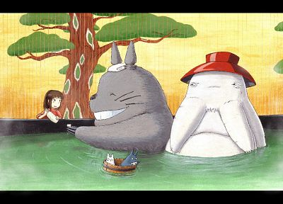 Hayao Miyazaki, movies, Spirited Away, Totoro, My Neighbour Totoro, Studio Ghibli, anime - related desktop wallpaper