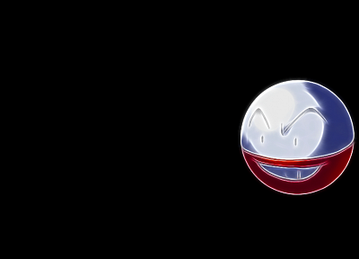 Pokemon, Voltorb, black background - random desktop wallpaper