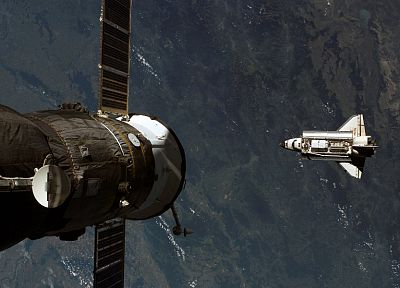 outer space, Space Shuttle, Soyuz - related desktop wallpaper