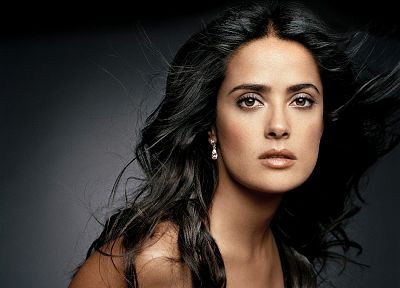 brunettes, women, actress, celebrity, Selma Hayek, faces, portraits - related desktop wallpaper