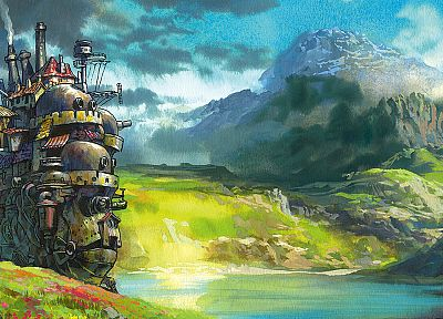 landscapes, Howl's Moving Castle - random desktop wallpaper