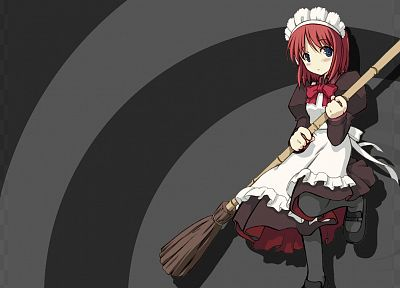 Tsukihime, maids, redheads, Type-Moon, hair band, Hisui, hair ornaments - random desktop wallpaper