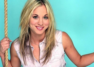 women, actress, Kaley Cuoco - desktop wallpaper