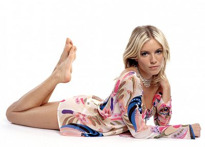 blondes, women, dress, feet, Sienna Miller - related desktop wallpaper