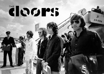 music, The Doors, grayscale, Jim Morrison, monochrome, music bands - random desktop wallpaper