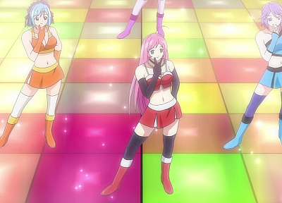 Shirayuki Mizore, Akashiya Moka, Kurono Kurumu, Rosario to Vampire - related desktop wallpaper